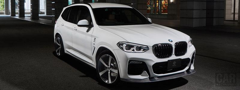 Car tuning desktop wallpapers 3D Design BMW X3 xDrive20d G01 - 2019 - Car wallpapers
