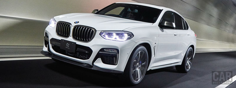 Car tuning desktop wallpapers 3D Design BMW X4 M40i G02 - 2019 - Car wallpapers