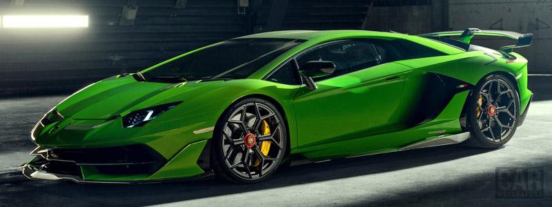 Car tuning desktop wallpapers Novitec Lamborghini Aventador SVJ - 2019 - Car wallpapers