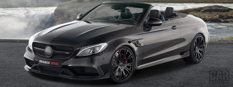 Car tuning desktop wallpapers Brabus 650 Cabrio Mercedes-AMG C 63 S Cabriolet - 2017 - Car wallpapers