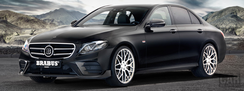 Car tuning desktop wallpapers Brabus Mercedes-Benz E-class AMG Line - 2017 - Car wallpapers