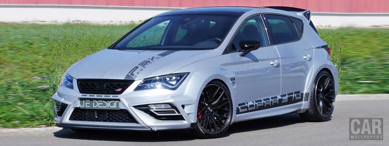 Car tuning desktop wallpapers JE Design Seat Leon Cupra 300 Widebody - 2018 - Car wallpapers
